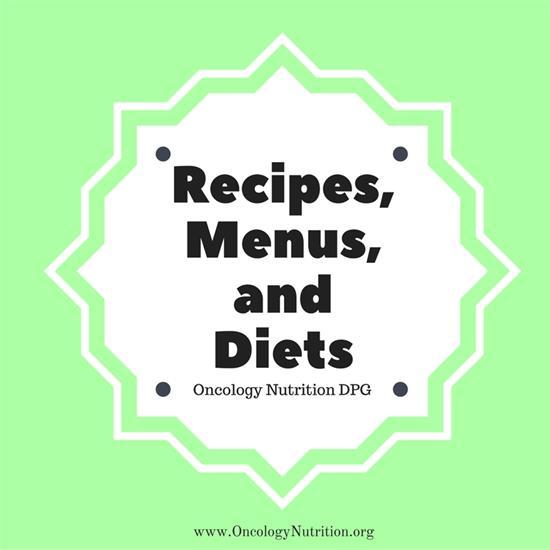 Recipes Menus And Diets